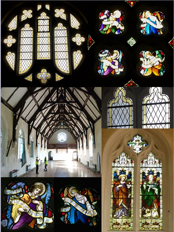 Deko Studio stained glass restoration of a grade 2 listed chapel currently underway in Isleworth