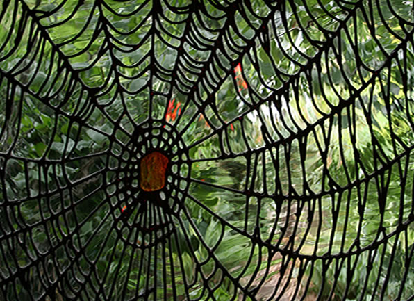 London's leading stained glass studio – Garden room Unusual Spider's Web Design Deko Studio London