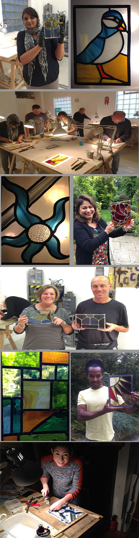 stained glass workshop in pregress